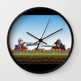 Joust It Wall Clock