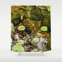 Baby Koi Pond Shower Curtain