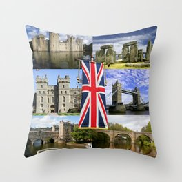 Great British History Throw Pillow