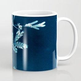 Blue gazes from the cat windows Coffee Mug
