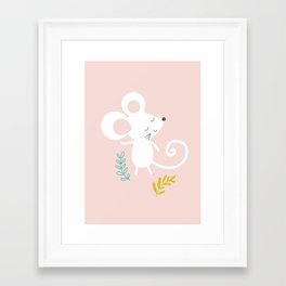 Monty Mouse and Carlie Cat Framed Art Print