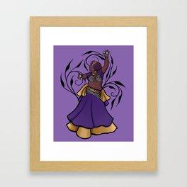 Ylonda belly dancer Framed Art Print