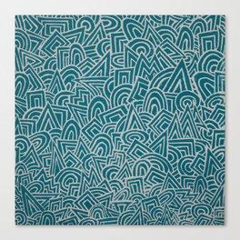 teal test Canvas Print