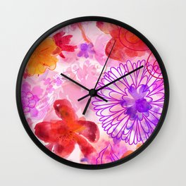 Bouquet of Dreams Wall Clock