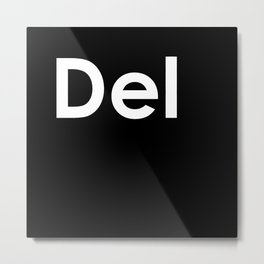 Delete key  Metal Print