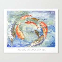 Circle fish by Adelaide O'Connell Canvas Print