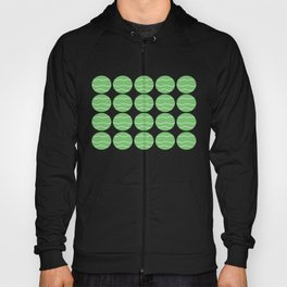 Green with White Squiggly Lines Hoody