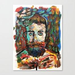 Sam con La Barba Canvas Print