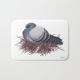 Rock Pigeon Bath Mat