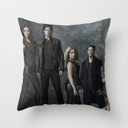 The Vampire Diaries Cast Throw Pillow