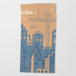 Future Amsterdam Beach Towel