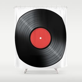 Music Record Shower Curtain