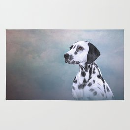 Drawing Dog Dalmatian Rug