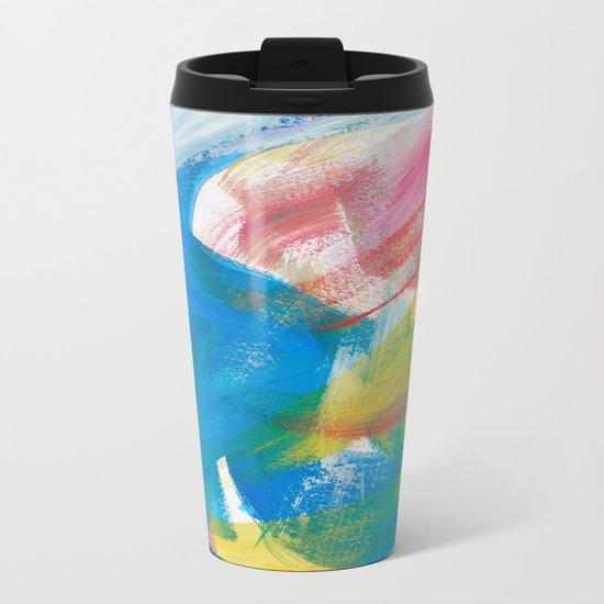 Abstract Artwork Colourful #4 Metal Travel Mug