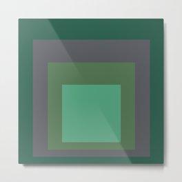 Block Colors - Greens and Grey Metal Print