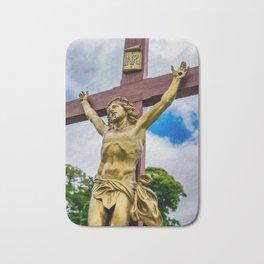 Crucifixion of Jesus Bath Mat