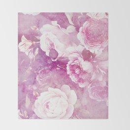 rose garden in purple Throw Blanket