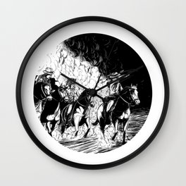 The Old West Battle IV Wall Clock