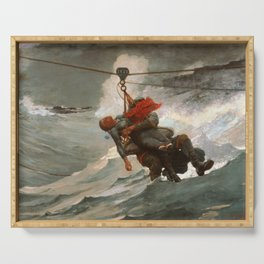 The Life Line by Winslow Homer, 1884 Serving Tray