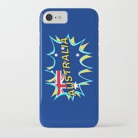 australia iPhone & iPod Cases featuring Australia by mailboxdisco