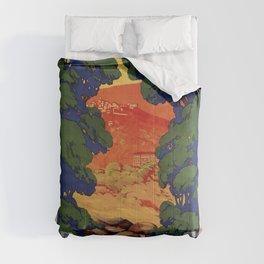 Vintage Italian travel Fiuggi springs Comforters