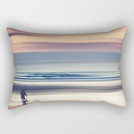 Sharing the Magic - abstract seascape at sunset Rectangular Pillow