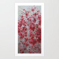 sakura Art Prints featuring Sakura by Ann Marie Coolick