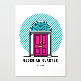 The Georgian Quarter Dublin Canvas Print