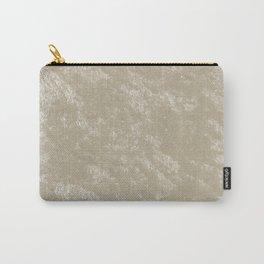 White gold velvet Carry-All Pouch