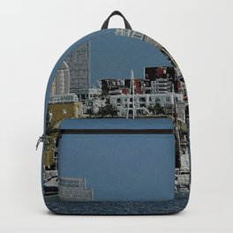 London Cityscape - RIVERBOATS Backpack