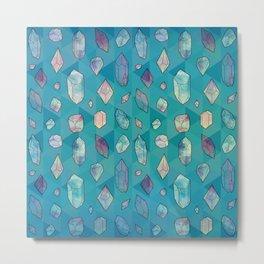 Healing Crystals 2 Metal Print