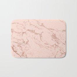 Modern rose gold glitter ombre foil blush pink marble pattern Bath Mat