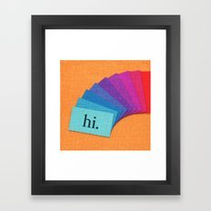 Cards Framed Art Print