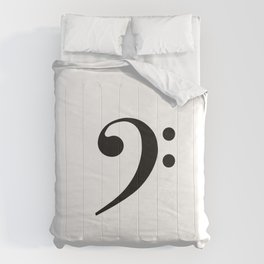 White and Black - Bass Clef Comforters