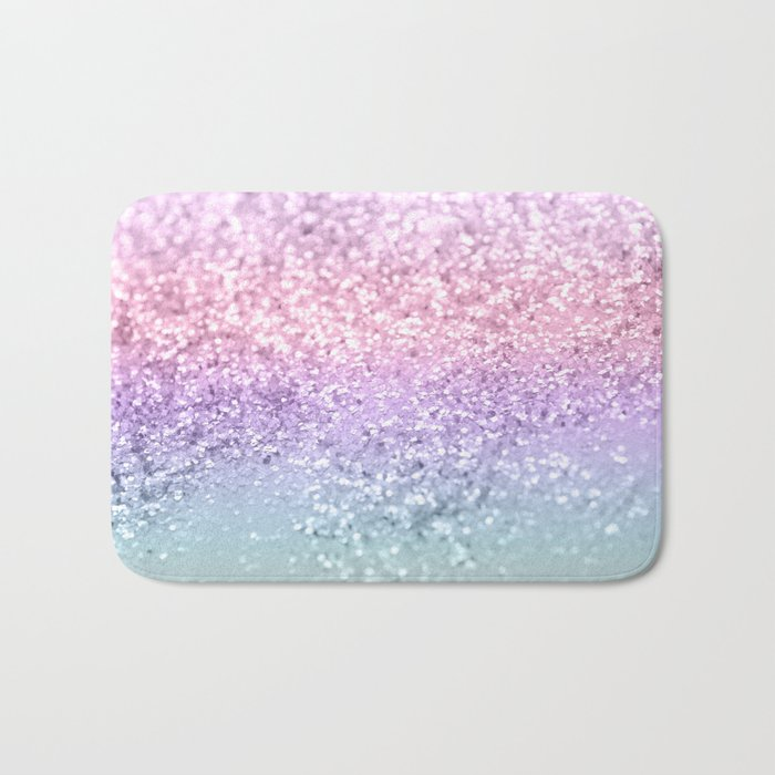 Unicorn Girls Glitter #1 #shiny #pastel #decor #art #society6 Badematte
