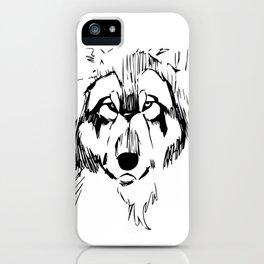 Wolf sketch iPhone Case
