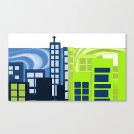 Sunsetting Cityscape Canvas Print