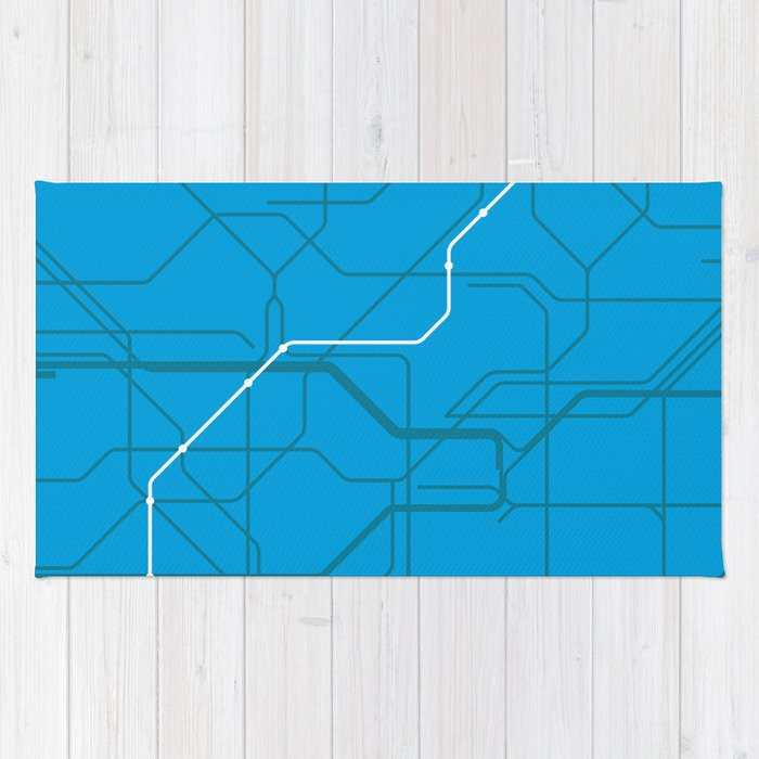 London Underground Victoria Line Route Tube Map Rug