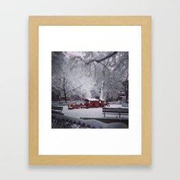 Train Park Framed Art Print