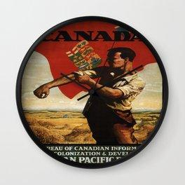 Vintage poster - Canada Wall Clock