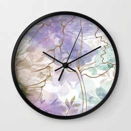 Posy Cluster -- muted Wall Clock
