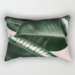 Big leaves pink Rectangular Pillow