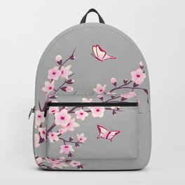 Cherry Blossom Pink Gray Backpack