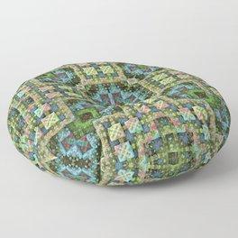 """""""Needlepoint Sampler"""" (3D Fractal) Floor Pillow"""