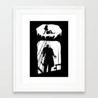randy c Framed Art Prints featuring Randy Vampire by Because Skulls