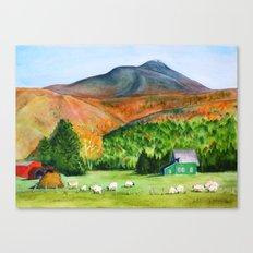 Sheep Farm and Camels Hump Canvas Print