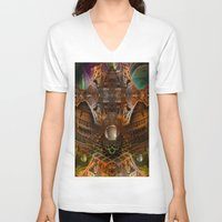 oz V-neck T-shirts featuring Oz by Robin Curtiss
