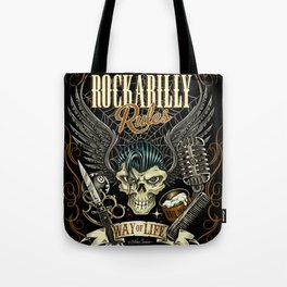 Rockabilly Rules Way of Life Tote Bag