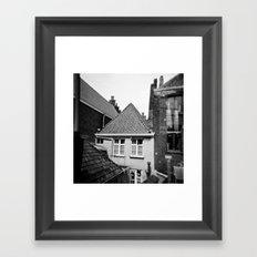 · My home...· Analogical Photography Black & White Framed Art Print
