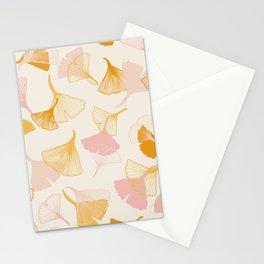 Ginko leaf pattern Stationery Cards